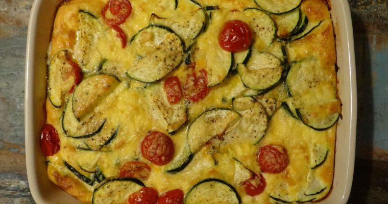 Frittata met courgette en tomaatjes
